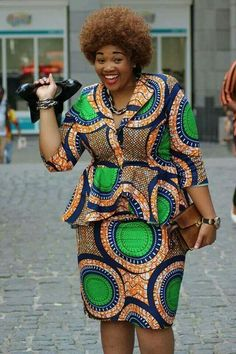 Ankara skirt and blouse style for wedding: 25 Stunning Ankara Skirt and Blouse Style For Wedding Ceremonies African Dresses For Kids, African Wear Dresses, Latest African Fashion Dresses, African Print Fashion, African Attire, Kitenge, Bow Afrika Fashion, Ankara Dress Designs, Traditional African Clothing