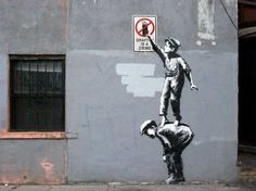 street art Banksy Graffiti is a crime - New York 2013