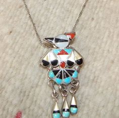 Zuni necklace  pin pendant sterling silver  gifts Native Ameican Jewelry turquoise necklace Texas quarter horse western  pow wow by LittleCherokeeValley on Etsy