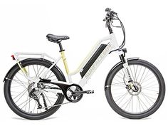 Rook Electric Bike Womens Electric Bike Cruiser Bike Ebike  White SM >>> For more information, visit image link.
