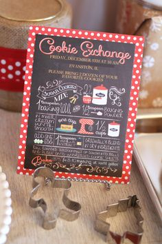 We Heart Parties: Candy Cane Coffee & Cookies: A Holiday Cookie Exchange