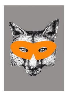 Fox - Superhero Animals - East End Prints - 19,95 GBP