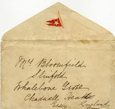 R.M.S. TITANIC: The only known letter written on