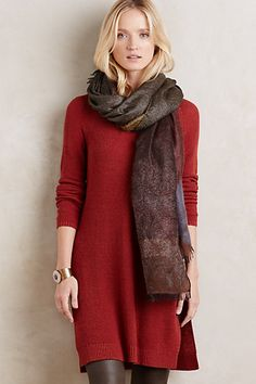 Split Sweater Tunic #anthropologie. With leggings, this would look awesome.