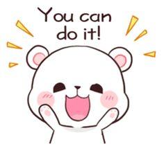 Bear Couple : Milk & Mocha by Shortie sticker Gif Lindos, Memes Lindos, Cute Couple Cartoon, Cute Love Cartoons, Cute Bear Drawings, Kawaii Drawings, Cute Love Gif, Cute Cat Gif, Cute Kawaii Animals