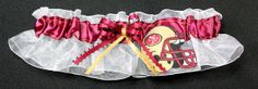 San Francisco 49ers Bridal Garter by sewuniquegarters on Etsy, $17.99