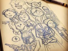Star Wars Doodles by Dennis Salvatier