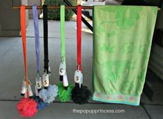 Pop Up Camping: Organizing Our Shower Supplies