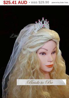 Team Bride Bridesmaid Tiara Crown Headband Bachelorette Party Bride Item Usable