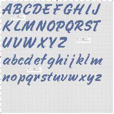 quilting like crazy Cross Stitching, Cross Stitch Embroidery, Cross Stitch Patterns, Alphabet Design, Cross Stitch Alphabet, C2c, Alphabet And Numbers, Knitting Charts, Hand Embroidery Patterns