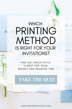 Wedding planning? You might have heard about different printing methods for your wedding invitations - take the quiz to find out if foil stamping is right for your wedding #vibe and budget! Wedding Invitations With Pictures, Foil Stamped Wedding Invitations, Destination Wedding Invitations, Vintage Wedding Invitations, Wedding Invitation Design, Wedding Prep, Wedding Planning, Wedding Tips, Foil Stamping