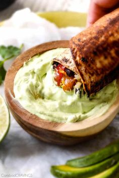 quick & easy Chicken Fajita Wraps with Creamy Avocado Dip with layers of cheese, beans, rice, the BEST chicken fajita filling, and sour cream are addicting! Entree Recipes, Wrap Recipes, Mexican Food Recipes, New Recipes, Dinner Recipes, Cooking Recipes, Healthy Recipes, Ethnic Recipes, Healthy Foods