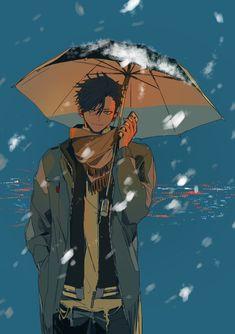 스쿠(@superposedplays)さん | Twitter Anime Guy - Black/Dark Hair, Umbrella