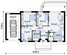 Проект дома Z7 L GL - план-схема 1