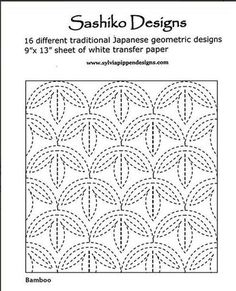 Sashiko Designs and Transfer Paper. www.AlderwoodQuilts