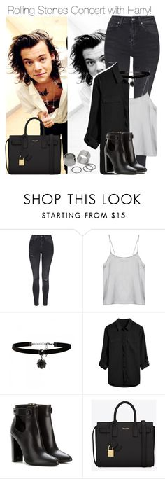 """Rolling Stones Concert with Harry!"" by directionermixer01 ❤ liked on Polyvore featuring Topshop, Forever New, Tom Ford, Yves Saint Laurent and Pieces"