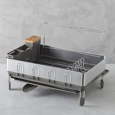 simplehuman ® Dish Rack Deluxe   Crate and Barrel