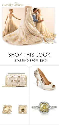 """Cinderella's Wedding Day"" by love-n-laughter ❤ liked on Polyvore featuring Oscar de la Renta, Badgley Mischka, David Yurman, Mark Broumand, disney and cinderella"