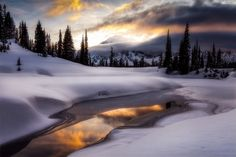 December - December - a wonderful month with so much hope and promise.  Enjoy the holidays with friends and family.  One of my favorites from Tipsoo Lake with some needed touch-ups.  Mount Rainier rises above sunset clouds.  Have a wonderful week!