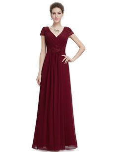 Ever Pretty Women's Double V-neck Ruched Evening Prom Dress 08467: Amazon.co.uk: Clothing