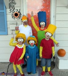 The Simpsons Family Costume - Halloween Costume Contest via @costume_works