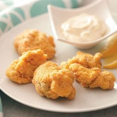 Fried Clams Recipe from Taste of Home :: shared by Tim Connolly of Freeport, Maine :: pinterest.com/...