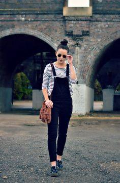 burkatron: what I wore | dungarees + breton