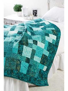 Pieced Lap Quilt & Throw Patterns - Mini Slide Quilt Pattern from Annie's Craft Store. Order here: https://www.anniescatalog.com/detail.html?prod_id=126154&cat_id=1450