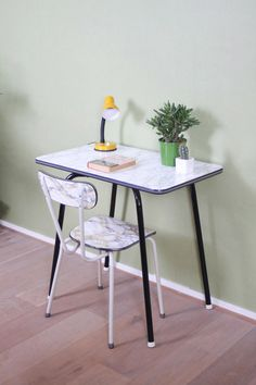 Vintage marble formica table