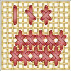 Crossed Gobelin Stitch