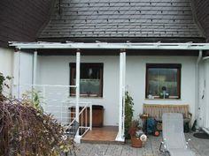 Terrasen und Kellerabgang Überdachung mit Glas Garage Doors, Steel, Outdoor Decor, Home Decor, Basement, Corning Glass, Lawn And Garden, Decoration Home, Room Decor