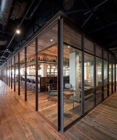 A loose structure was built in this restaurant to reflect a traditional marketplace. Mercato at Three on the Bund by Neri