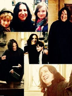 Alan Rickman as Severus Snape ... in costume but out of character.