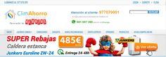 http://climahorro.es ClimAhorro es la tienda de calderas más barata, especializada en calderas, calentadores, aire acondicionado online, estufas, radiadores, calefacción online y equipos de climatización.