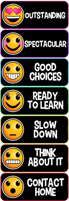 Emoji Behavior Clip Chart - keep classroom management cute & and under control :)