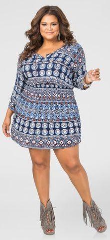 7096f8a2e59 Boho Print Tunic Dress-Plus Size Jackets-Ashley Stewart-010-B6-P3086