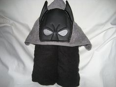 Hooded Towel Bat Hero Towel can be personalized for an by 4Brig, $25.00