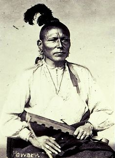 Pawnee man. The Pawnee were one of the largest and most powerful of the groups living on the central plains.
