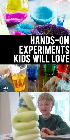 These Hands On Experiments for Kids are the perfect thing for a rainy school day or a weekend with no other plans! Because, kids love Science! Easy Science Experiments, Science Activities For Kids, Preschool Science, Rainy Day Activities, Elementary Science, Science Classroom, Hands On Activities, Science Lessons, Teaching Science