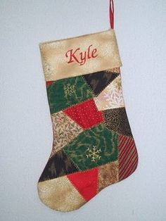 Crazy #Quilted Cuffed Christmas #Stocking #tutorial by Exuberant Color