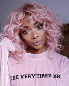 Beautiful pink hair!