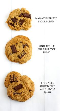 See how three different brands of gluten free flours work in a classic chocolate chip cookie recipe.
