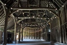 Festoon Canopy in a Rustic Barn