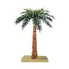 Lighted Royal Palm Tree - 6'