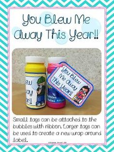 Attach these tags to a bottle of bubbles for a fun and simple gift to your students!