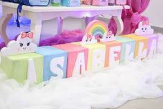 3rd Birthday, Birthday Party Themes, Cloud Party, Baby Shawer, Rainbow Baby, First Birthdays, Party Time, Diy And Crafts, Pinterest Blog