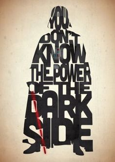 Darth Vader typography art print poster based on a quote from the movie Star Wars Return Of The Jedi on Etsy, Citations Star Wars, Citations Film, War Quotes, Star Wars Quotes, Movie Quotes, Cinema Quotes, Famous Quotes, Film Star Wars, Star Wars Poster