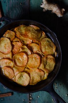 Sweet Potatoes Anna with Spiced Ghee: Simple, Delicious Side Dish for Winter.