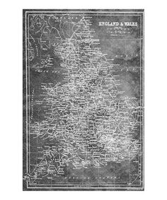 England & Wales 1922 Wall Art Print by Oliver Gal