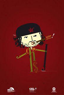 Afiche finalista del concurso por el 85avo aniversario del nacimiento del Che Guevara.